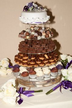 Brownie Wedding Cake  What a wonderful idea  I LOVE CHOCOLATE     The ultimate cake for those that aren t a big fan of actual wedding cake