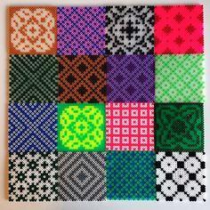 Hama perler tiles by Marie Wehnert - More tiles: http://www.pinterest.com/pin/374291419003902218/