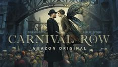Orlando bloom and cara delevingne star in first look at victorian fantasy series 'carnival row' Orlando Bloom, Tamzin Merchant, Cara Delevingne, Amazon Prime Shows, Amazon Prime Video, Period Drama Series, Period Dramas, Peggy Carter, Moon Knight