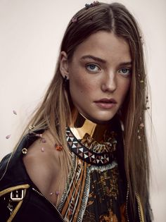 Roos Abels for Vogue China February 2016 | The Fashionography