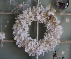 Gilded Snow  Abandoned Vintage Rag Wreath with by FunkyJunkyArt,...cute