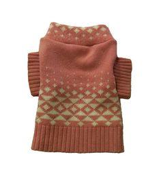 X Small Pink Triangle Dog Sweater Handmade