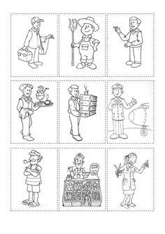 Memory dels oficis ofici eina Preschool Worksheets, Preschool Learning, Preschool Activities, Serbian Language, People Who Help Us, Gernal Knowledge, French Classroom, Community Helpers, Spanish Lessons