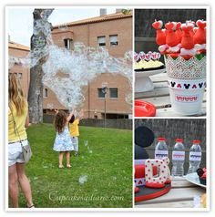 Mickey Mouse and bubbles party