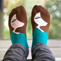 ChattyFeet Kate Middle Toe Socks