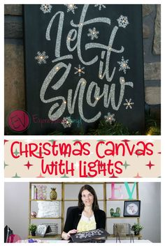 Join JoAnn from Expressionsvinyl.com as she explains a quick and easy way to create these fun Christmas Light Canvas wall hangings with Heat Transfer Vinyl and you Cricut or Silhouette machine.