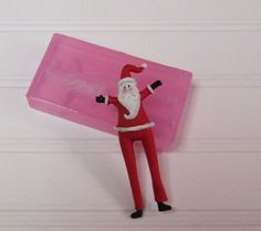 Mold for Skinny Santa Ornament Soft Silicone Mold  for Wax Resin  Polymer Clay etc. by LaurelArts