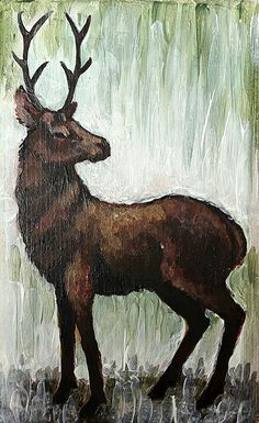 Acrylic painting- deer