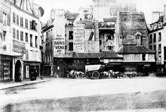 Rue St. André des Arts, Paris, 1865. Photo by Charles Marville