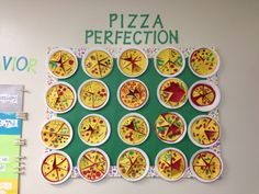 Fraction Pizza …picture only…cute idea! 4th Grade Fractions, Teaching Fractions, Fourth Grade Math, 4th Grade Classroom, Teaching Math, Pizza Fractions, Teaching Ideas, Fraction Activities, Math Resources