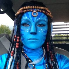 Avatar makeup Avatar Costumes, Avatar Cosplay, Halloween Queen, Couple Halloween Costumes, Halloween Make Up, Avatar Fancy Dress, Avatar Makeup, Avatar Films, Avatar Fan Art