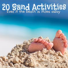 "Paging Fun Mums Sand Footprint craft featured at 'Spoonful"" - 20 Super Fun Sand Activities for Kids."