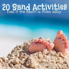 20 Super Fun Sand Activities for Kids