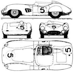 1959 Aston Martin DBR1 Cabriolet blueprint