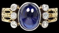 Sapphire and Diamond Ring, Edmund Ware 1912