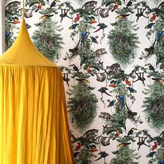 numero74 canopy sunflower yellow. Audacieux et beau ! Soon on #thesocialitefamily #chambredebebe @numero74_official @hermes #spiritofyou #intérieur