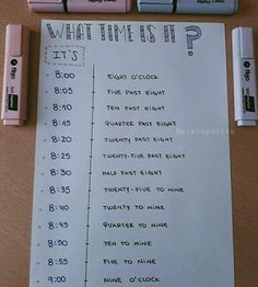 what time is it ? English Help, English Verbs, Learn English Words, English Course, English Tips, English Phrases, English Study, English Lessons, Learning English For Kids
