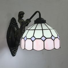 Grid Tiffany Lamp8S9-1PW1