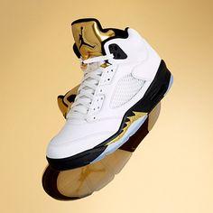 d07931b416ad11 Go for gold in the Air Jordan 5 Retro