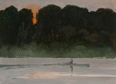 Bart Forbes, Dawn Rower oil on canvas Canvas Painting Landscape, Boat Painting, Landscape Art, Painting Art, Color Of Night, Sky Art, Beautiful Paintings, Art Google, Painting Inspiration