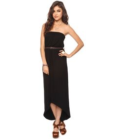 Forever 21 high-low maxi dress.  Just ordered this dress.  I have just the shoes to go with it.  I'll add a belt and this will be a summer-long look :)  So simple and pretty and the high-low hemline is very now.