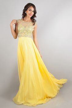 2014 Blusher Prom Dress Scoop Beaded Tulle Bodice Backless Chiffon With Sweep Train