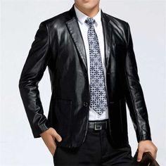 #Men's Suit Style #Genuine Sheep #LeatherCoat