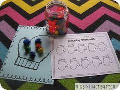 Miss Kindergarten: January Math and Literacy Centers
