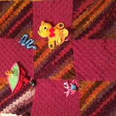 c2c crochet baby blanket with toy