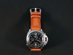 Canvas Orange no 2, price $116.99 and email me to: gunny.straps@gmail.com to order it. I can make it for any watches. Watches, Orange, Canvas, Gallery, Leather, Accessories, Clock, Tela, Wristwatches
