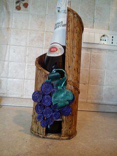 Porta bottiglia....cannucce di carta