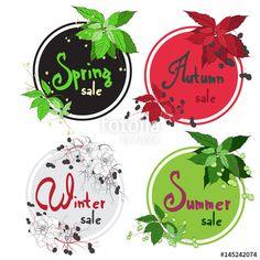 Vector: vector set of season sales promo