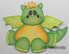 """'Baby Dragon"""" for Hershey! Paper Punch Art, Punch Art Cards, Paper Art, Scrapbook Paper Crafts, Scrapbook Cards, Arte Punch, Scrapbook Embellishments, Kids Cards, Baby Cards"""