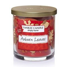 Yankee Candle simply home Auburn Leaves 7-oz. Jar Candle, Drk Orange