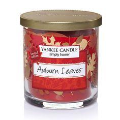 Yankee Candle simply home Auburn Leaves 7-oz. Jar Candle, Drk Orange
