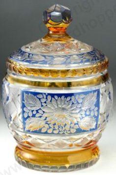 Bohemian Covered Jar