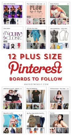 12 Plus Size Pinterest Boards to Follow