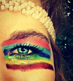 Crazy cool rainbow eye