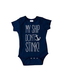 My ship Dont Stink - Funny Onesie for Poopie Kids - Nautical Baby Clothes - Anchor Onesies - baby gifts - Childrens Clothing - Kids clothes - http://www.babies-clothes.info/my-ship-dont-stink-funny-onesie-for-poopie-kids-nautical-baby-clothes-anchor-onesies-baby-gifts-childrens-clothing-kids-clothes.html