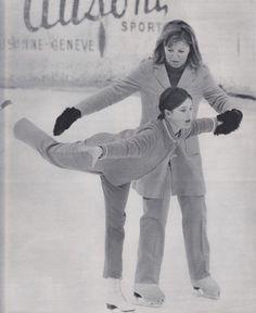 Princess Caroline of Monaco 1968! every princess should know how to skate!