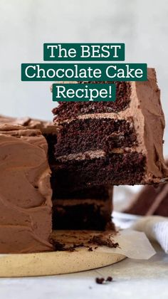 Delicious Cake Recipes, Yummy Cakes, Yummy Food, Amazing Chocolate Cake Recipe, Best Chocolate Cake, Baking Recipes, Cookie Recipes, Dessert Recipes, Basic Butter Cookies Recipe