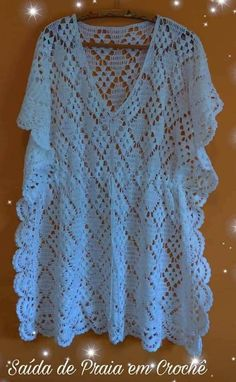 Crochet Poncho, Free Crochet, Pull, Crochet Patterns, Knitting, Blouse, Sweaters, Clothes, Dresses