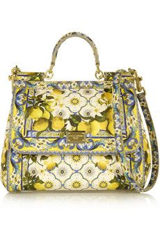 Dolce & Gabbana Sicily printed textured-leather tote | NET-A-PORTER