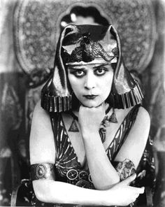 Theda Bara (1885-1955) Her real name was Theodosia Burr. She was always type casted as the dangerous, bad-girl,villain.