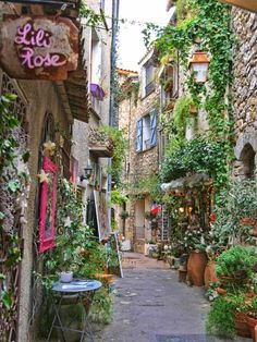 10 of The Most Luxurious Towns on the French Riviera- 10 of The Most Luxurious Towns on the French Riviera Mougins pedestrian street, South of France - Europe Train Travel, France Travel, France Europe, Paris Travel, Nice France, South Of France, Places To Travel, Places To Go, Belle France
