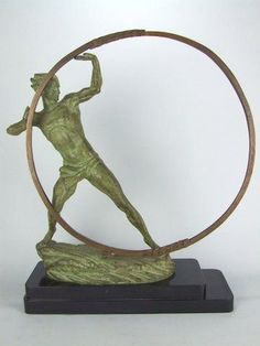 Art Deco bronze by M. Bouraine. For Sale | Antiques.com ...