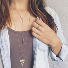 The no-hassle trick to layering your jewelry - Fall accessories fashion 2015