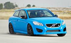 Polestar Volvo C30 on a racetrack
