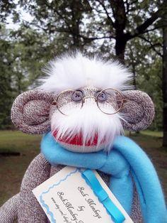 Sock Monkey Doll, Albert Einstein Doll.