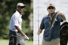 The president has played nearly 8 times as much golf as George W. Bush, who took more than 3 times as much vacation